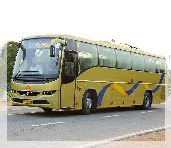 volvo luxury bus, coach rental in delhi, 27 Seater Luxury Volvo Bus, 18 Seater luxury volvo bus, online volvo bus booking