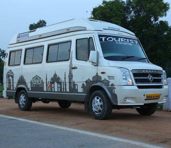 hire tempo traveller in delhi ncr, maharaja tempo traveller on rent, 9 seater tempo traveller in west delhi
