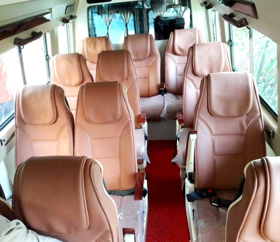 Luxury 12 Seater Coach Hire, Tempo Traveller on Rent, Tempo Traveller on Rent in Delhi, Luxury Tempo Traveller on Rent