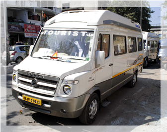 16 seater tempo traveller for rent, book tempo traveller in west delhi, tempo traveller on hire in delhi