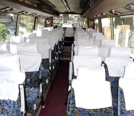 Coach bus hire in Delhi NCR, 35 seater Bus hire in New Delhi, Bus hire in Delhi