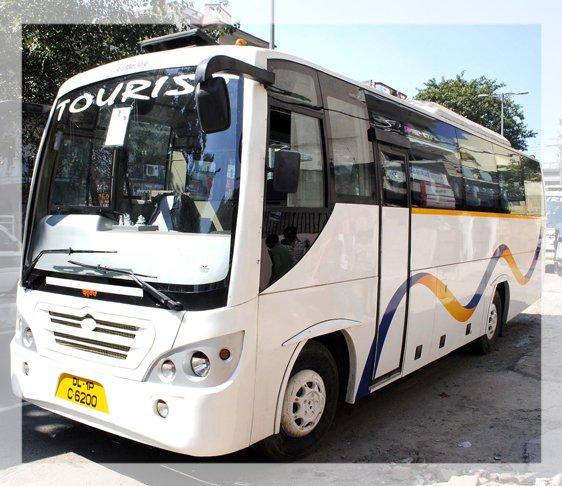 Bus rental in new delhi, coach bus hire in Delhi NCR, Luxury bus in Delhi