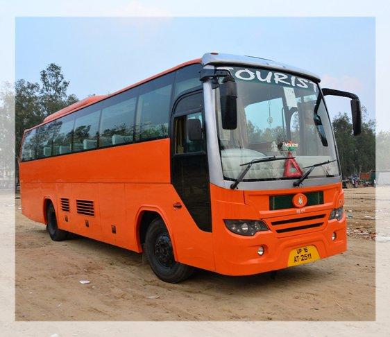 Volvo bus service in Delhi NCR, hire a bus in new Delhi, luxury bus in delhi
