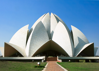 lotus temple in delhi, temples in new delhi, sightseeing in delhi