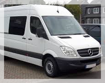 luxury van rental in delhi ncr, rent a van in delhi, mercedes sprinter rental in new delhi